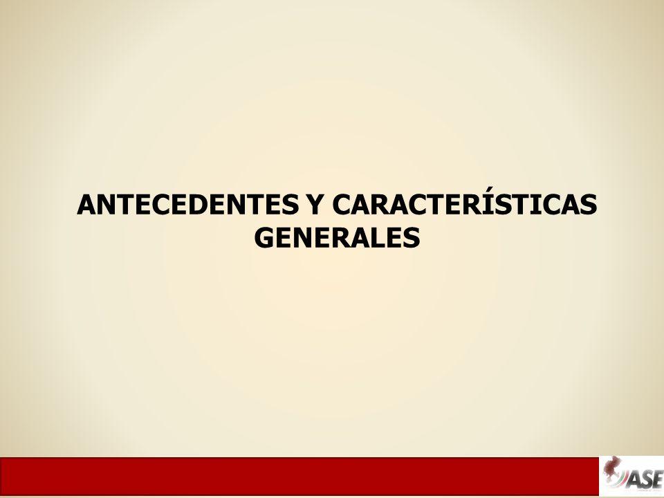 ANTECEDENTES Y CARACTERÍSTICAS GENERALES