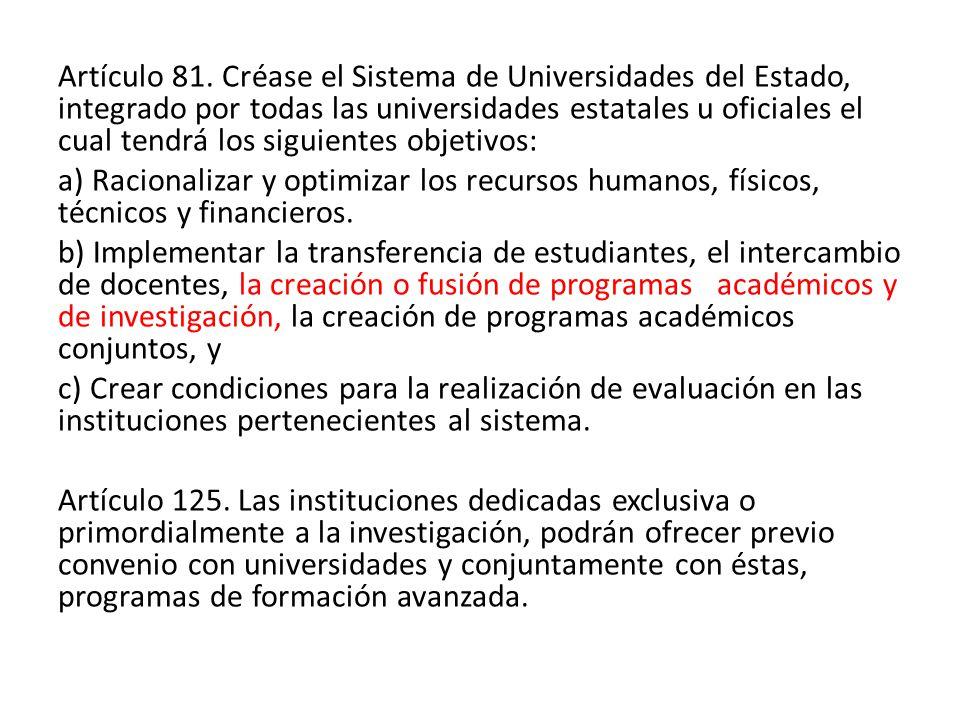 Artículo 81.