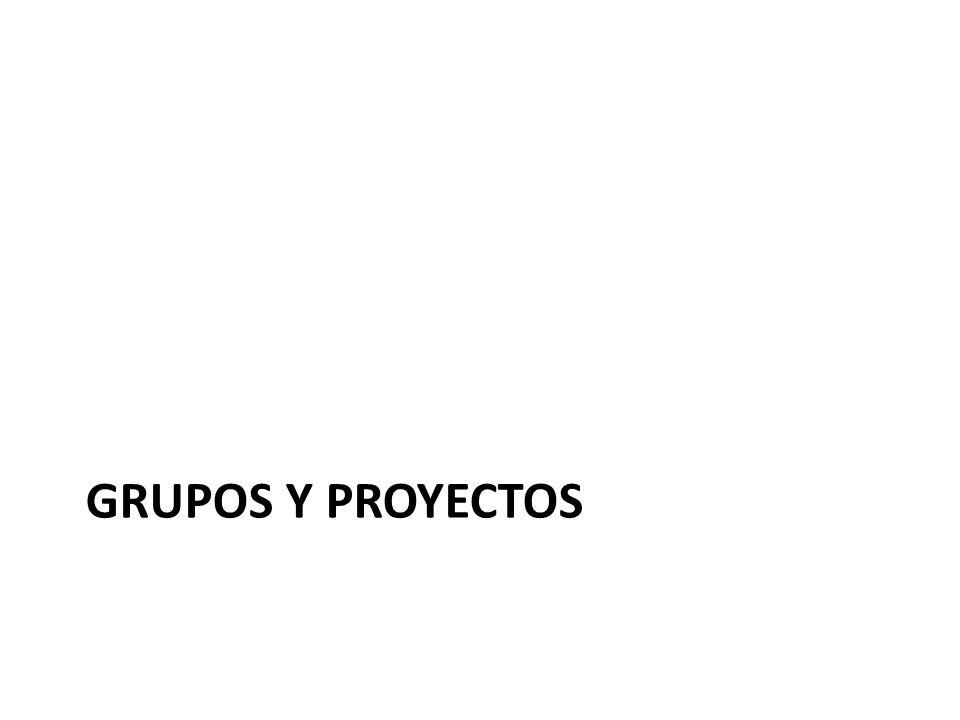 GRUPOS Y PROYECTOS
