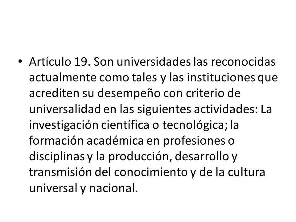 Artículo 19.