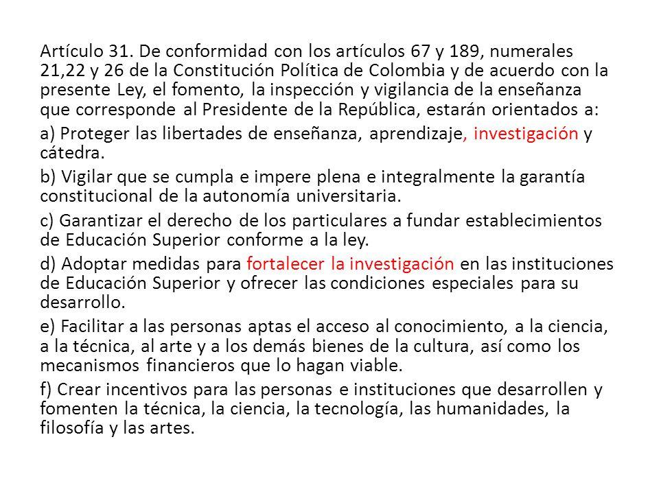 Artículo 31.