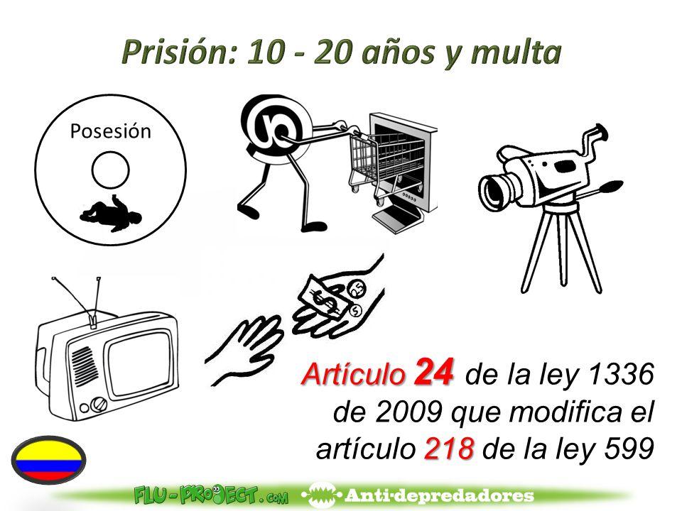 Artículo 24 218 Artículo 24 de la ley 1336 de 2009 que modifica el artículo 218 de la ley 599 Posesión