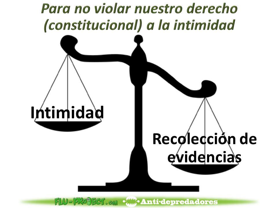 Intimidad Recolección de evidencias