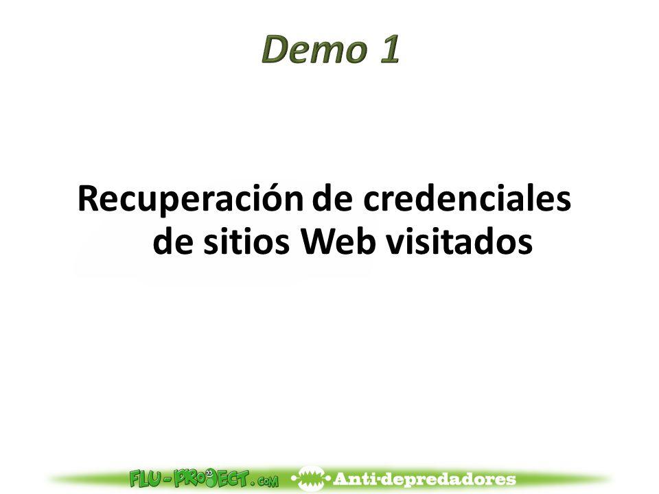 Recuperación de credenciales de sitios Web visitados