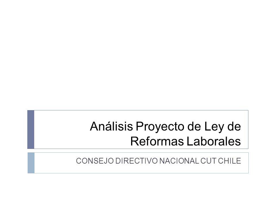 Análisis Proyecto de Ley de Reformas Laborales CONSEJO DIRECTIVO NACIONAL CUT CHILE
