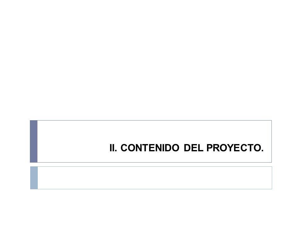 II. CONTENIDO DEL PROYECTO.