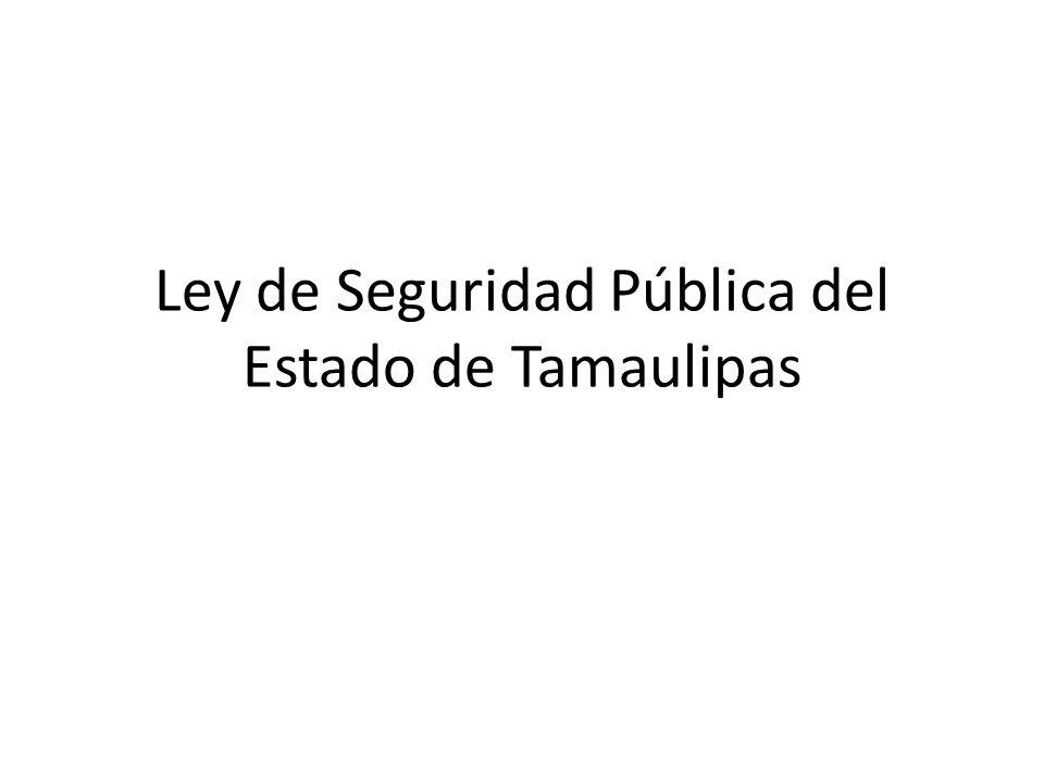 Ley de Seguridad Pública del Estado de Tamaulipas