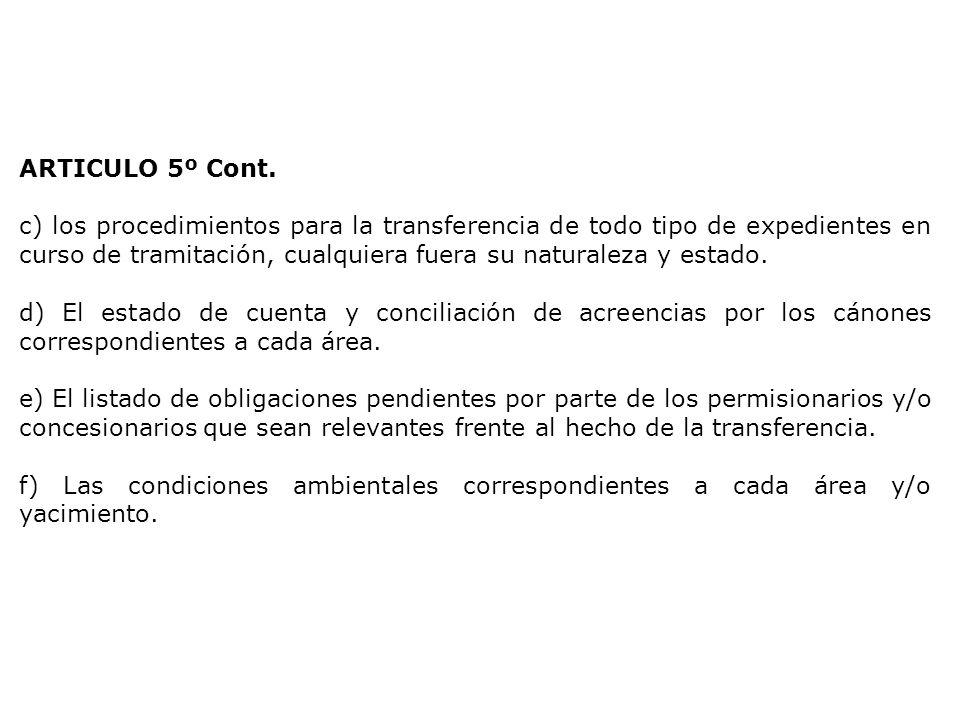 ARTICULO 5º Cont.