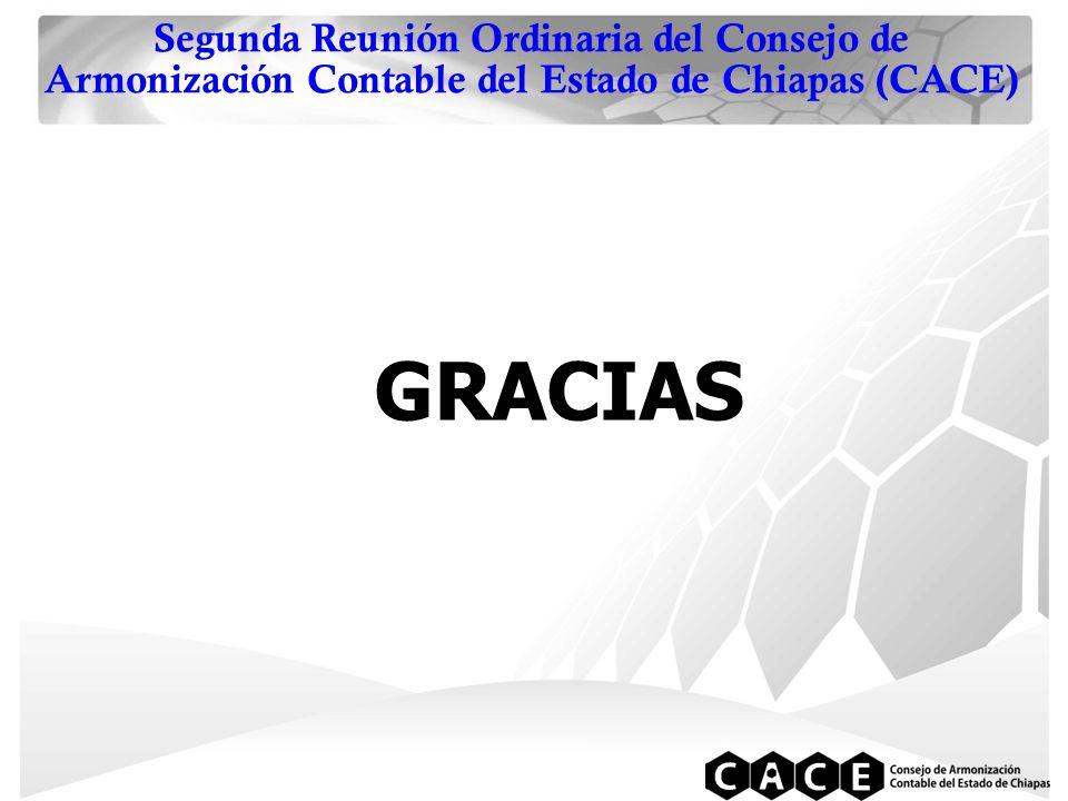 Segunda Reunión Ordinaria del Consejo de Armonización Contable del Estado de Chiapas (CACE) GRACIAS