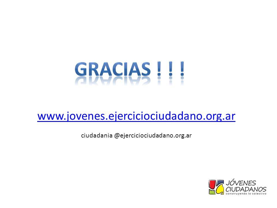 www.jovenes.ejerciciociudadano.org.ar ciudadania @ejerciciociudadano.org.ar