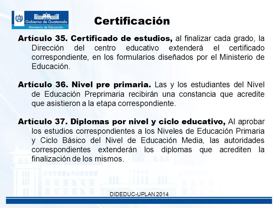 Certificación Artículo 35.