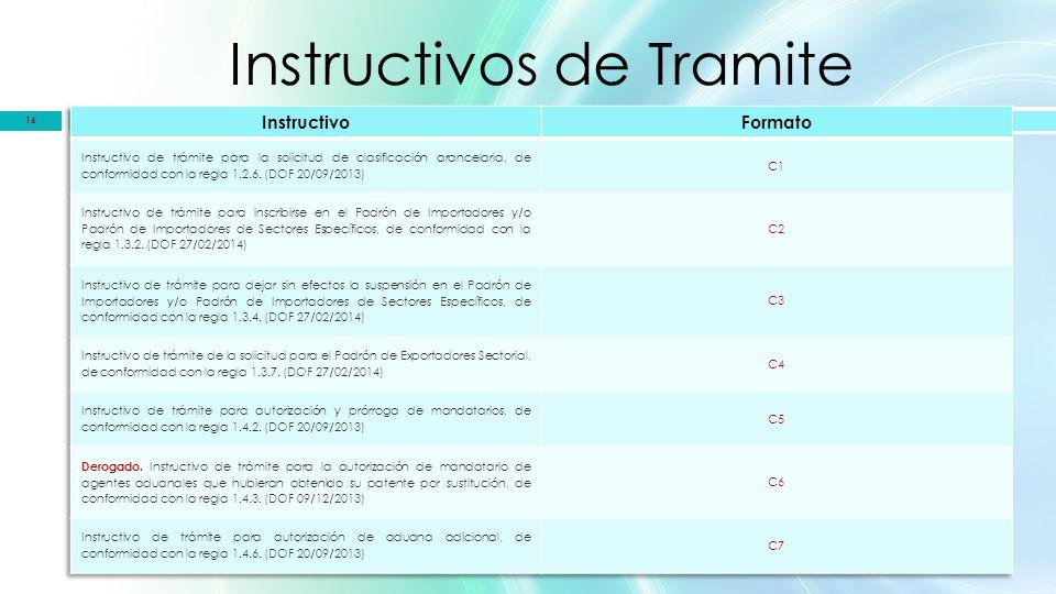 Instructivos de Tramite 16