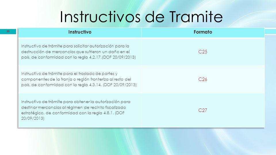 Instructivos de Tramite 20