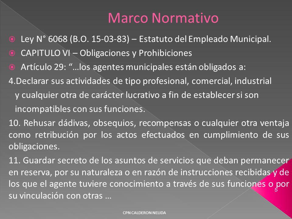  Ley N° 6068 (B.O. 15-03-83) – Estatuto del Empleado Municipal.