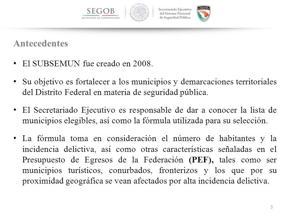NACIONAL El SUBSEMUN fue creado en 2008.