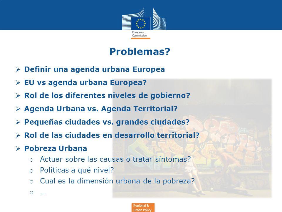 Regional & Urban Policy Problemas.