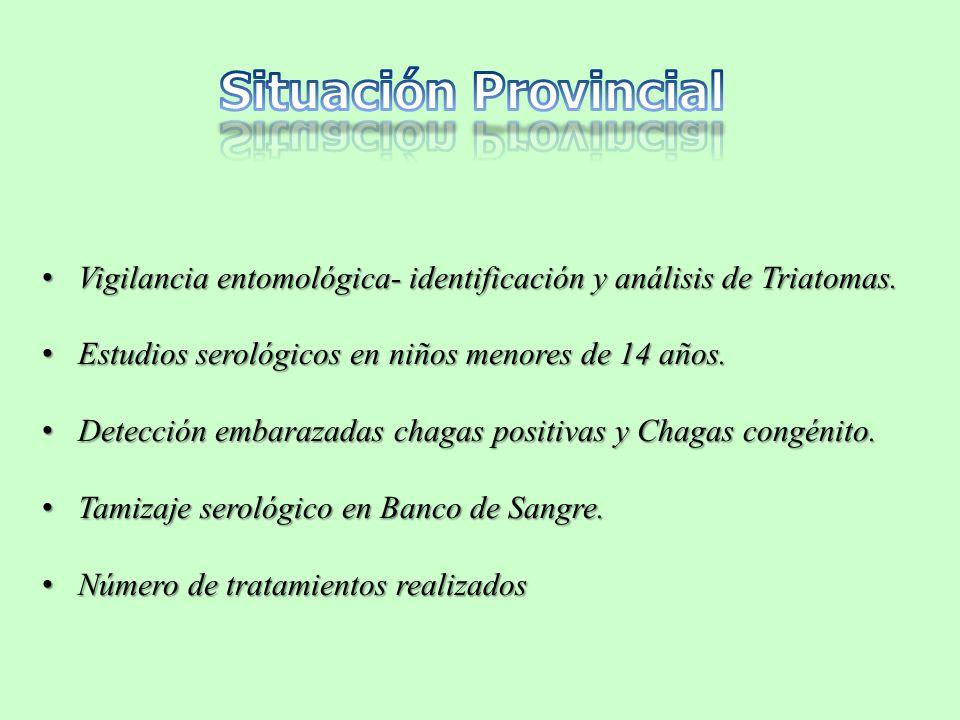 Vigilancia entomológica- identificación y análisis de Triatomas.