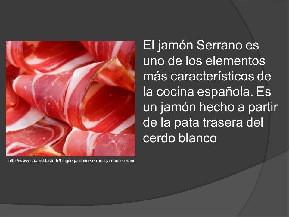 El jamón Serrano es uno de los elementos más característicos de la cocina española.