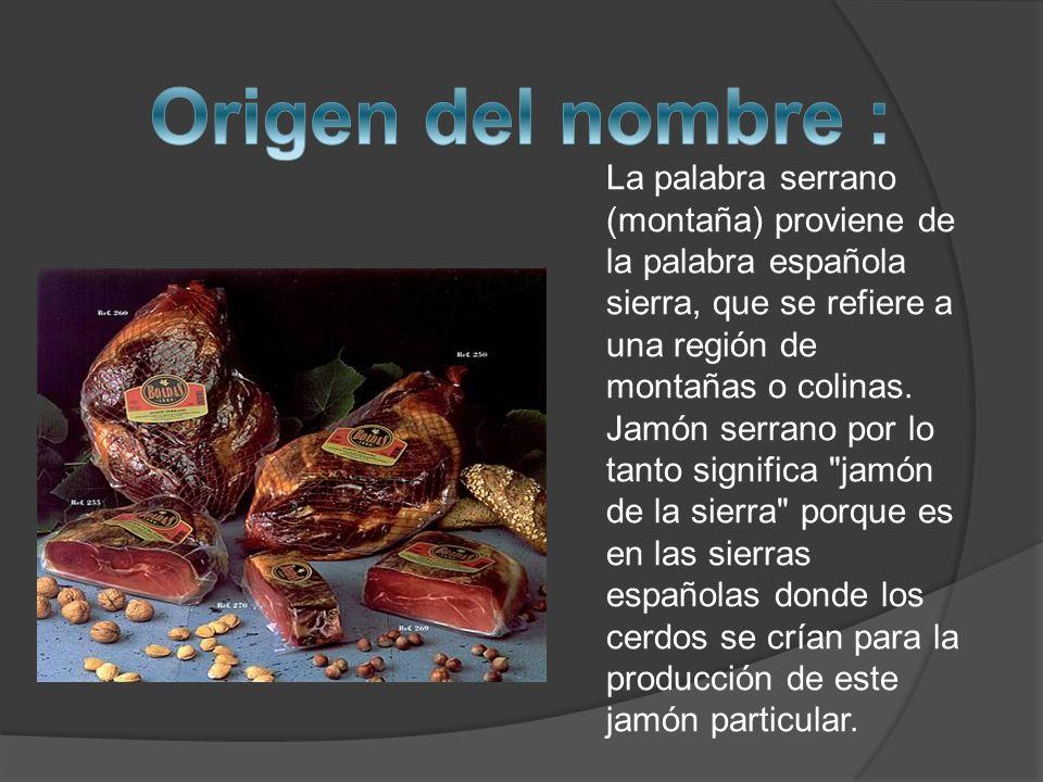 La palabra serrano (montaña) proviene de la palabra española sierra, que se refiere a una región de montañas o colinas.