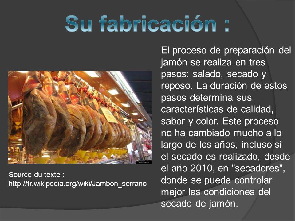 El proceso de preparación del jamón se realiza en tres pasos: salado, secado y reposo.