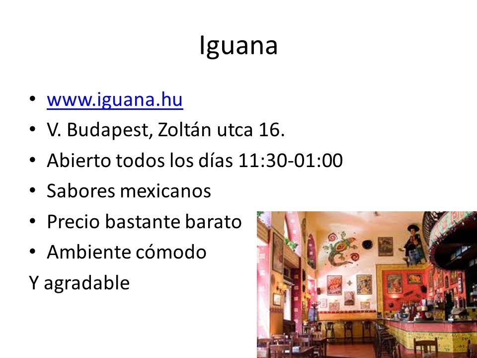 Iguana www.iguana.hu V. Budapest, Zoltán utca 16.