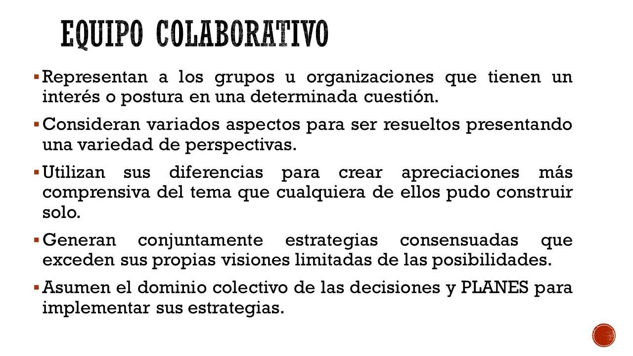 Representan a los grupos u organizaciones que tienen un interés o postura en una determinada cuestión.