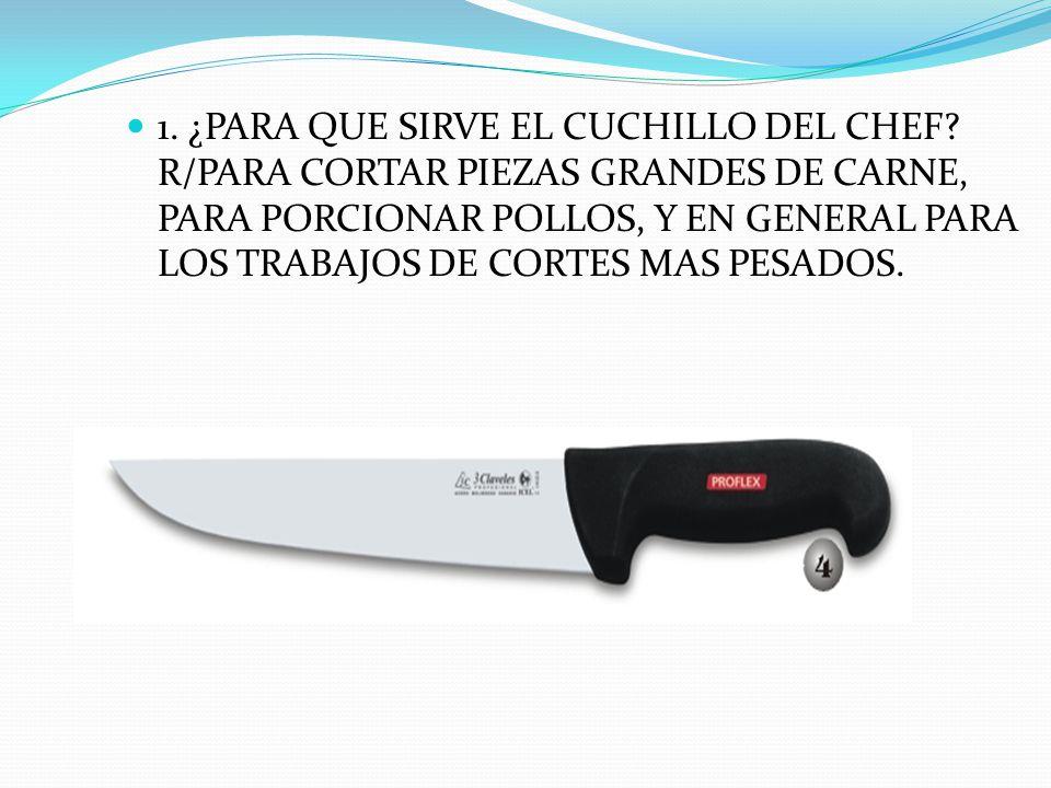 Son las herramientas principales que se utilizan en la cocina.