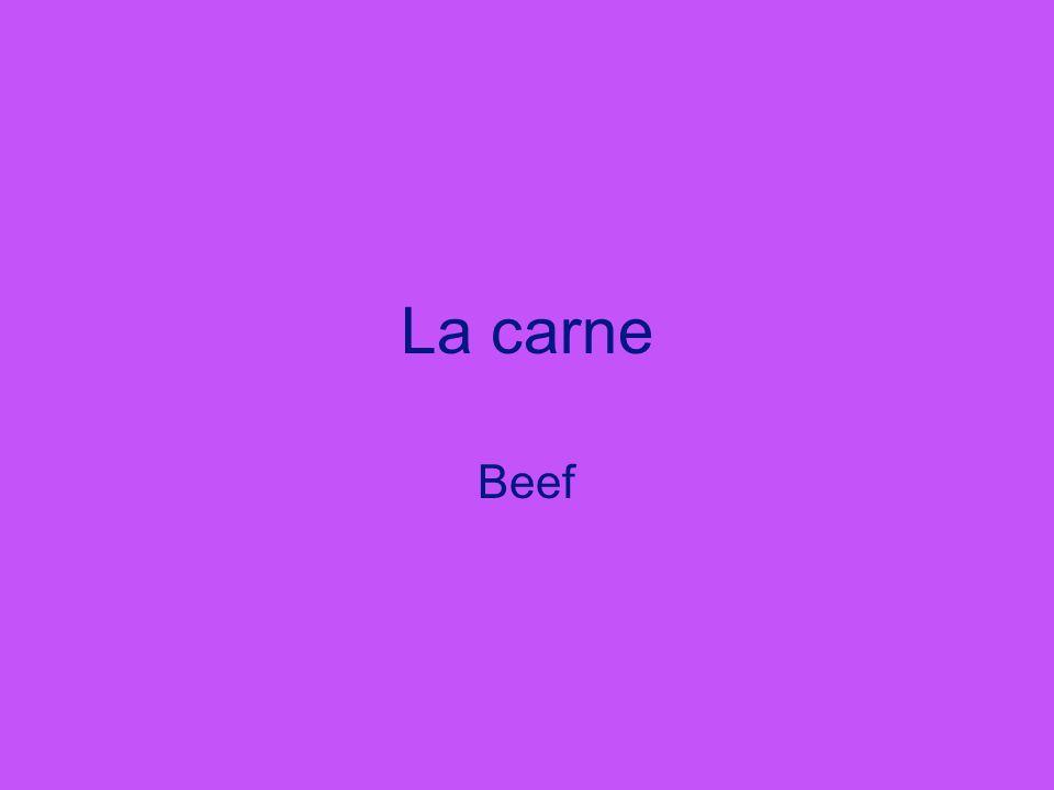 La carne Beef