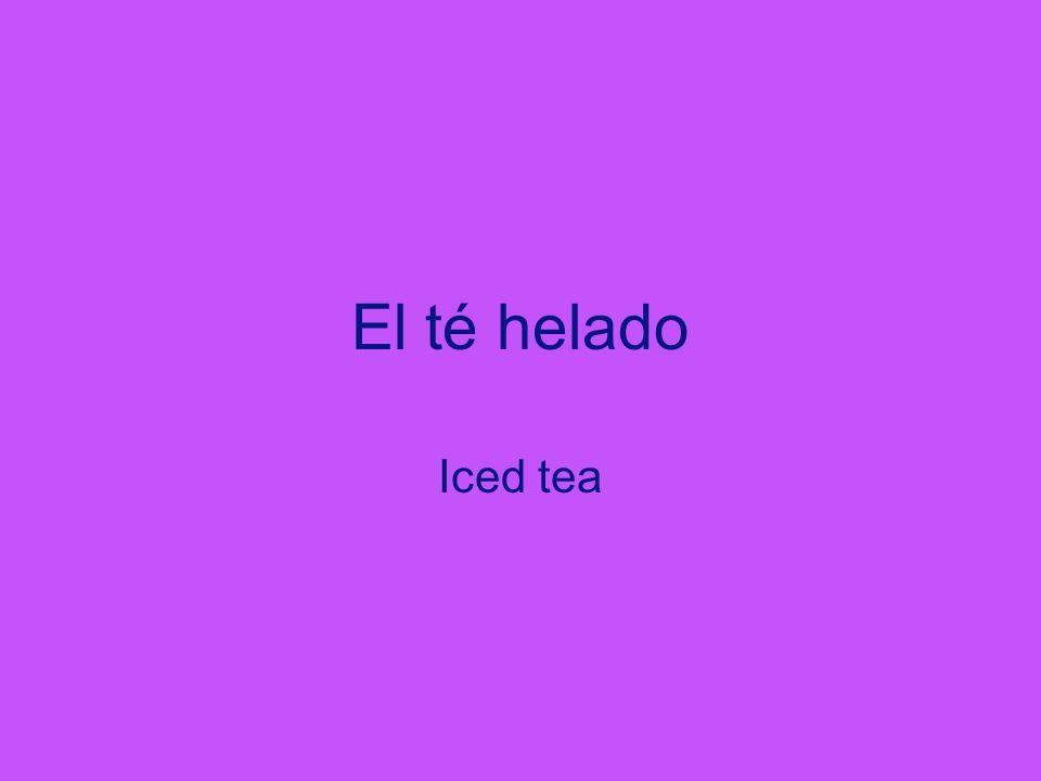 El té helado Iced tea I