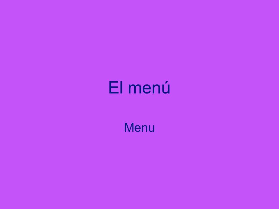 El menú Menu