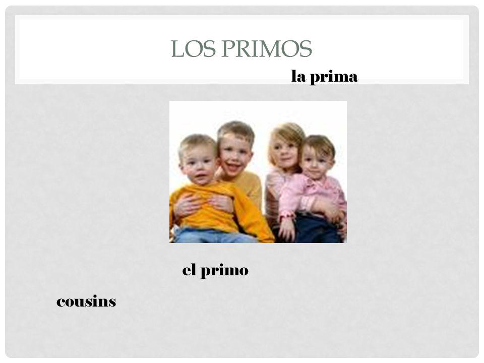 LOS PRIMOS cousins el primo la prima