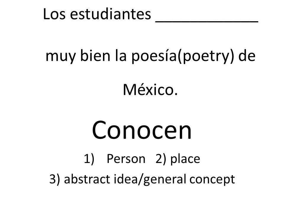 Los estudiantes ____________ muy bien la poesía(poetry) de México.