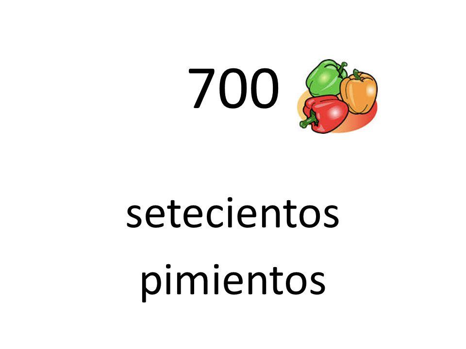 700 setecientos pimientos