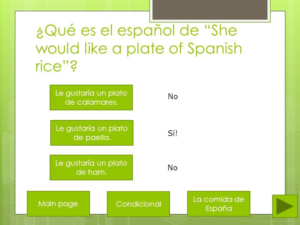 ¿Qué es el español de I would like a cup of coffee .