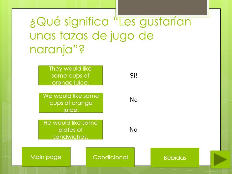 ¿Qué es el español de She would like a plate of Spanish rice .