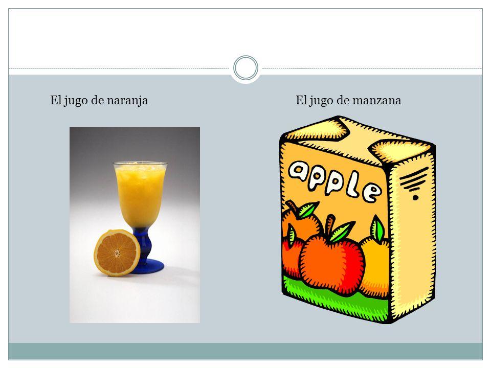 El jugo de naranjaEl jugo de manzana