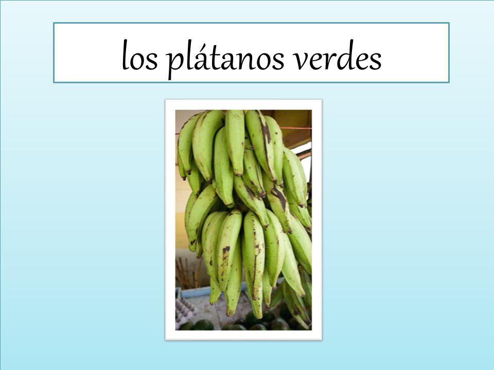 los plátanos verdes
