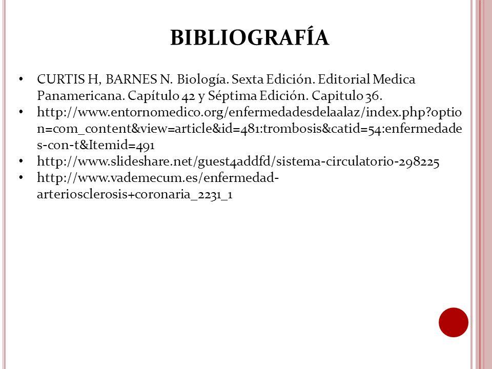 CURTIS H, BARNES N. Biología. Sexta Edición. Editorial Medica Panamericana.
