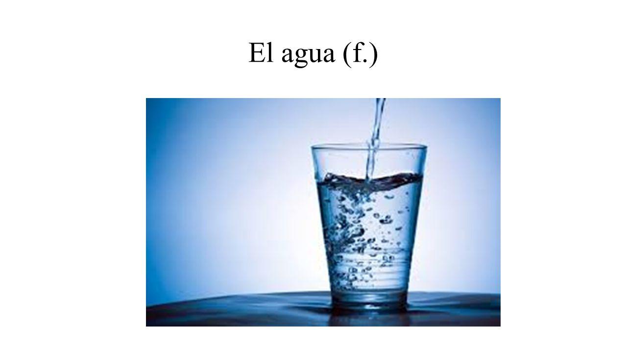El agua (f.)