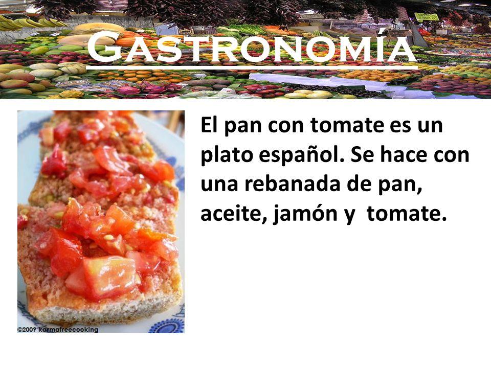 Gastronomía El pan con tomate es un plato español.