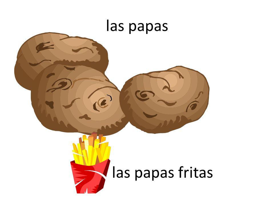 las papas las papas fritas
