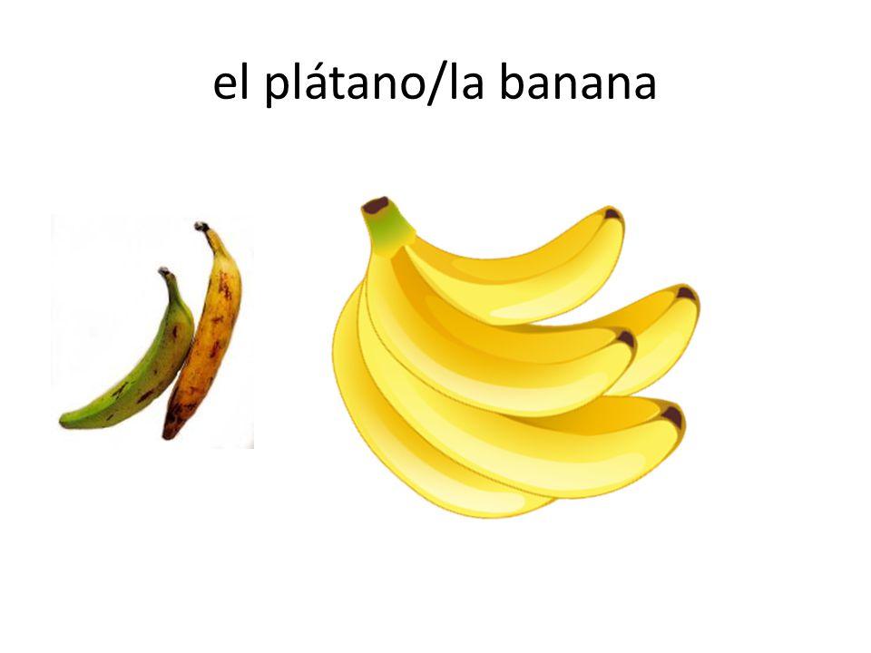 el plátano/la banana