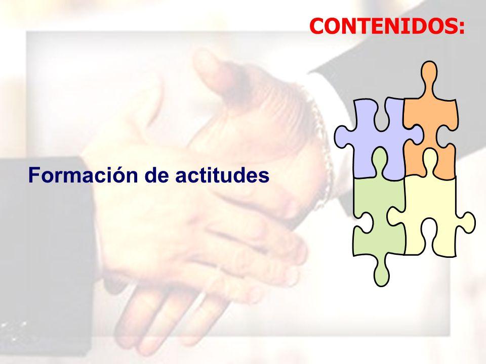 WIL FRE DO MAR QUI NA MAU NY Formación de actitudes CONTENIDOS: