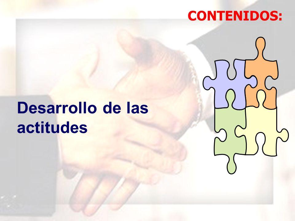 WIL FRE DO MAR QUI NA MAU NY Desarrollo de las actitudes CONTENIDOS:
