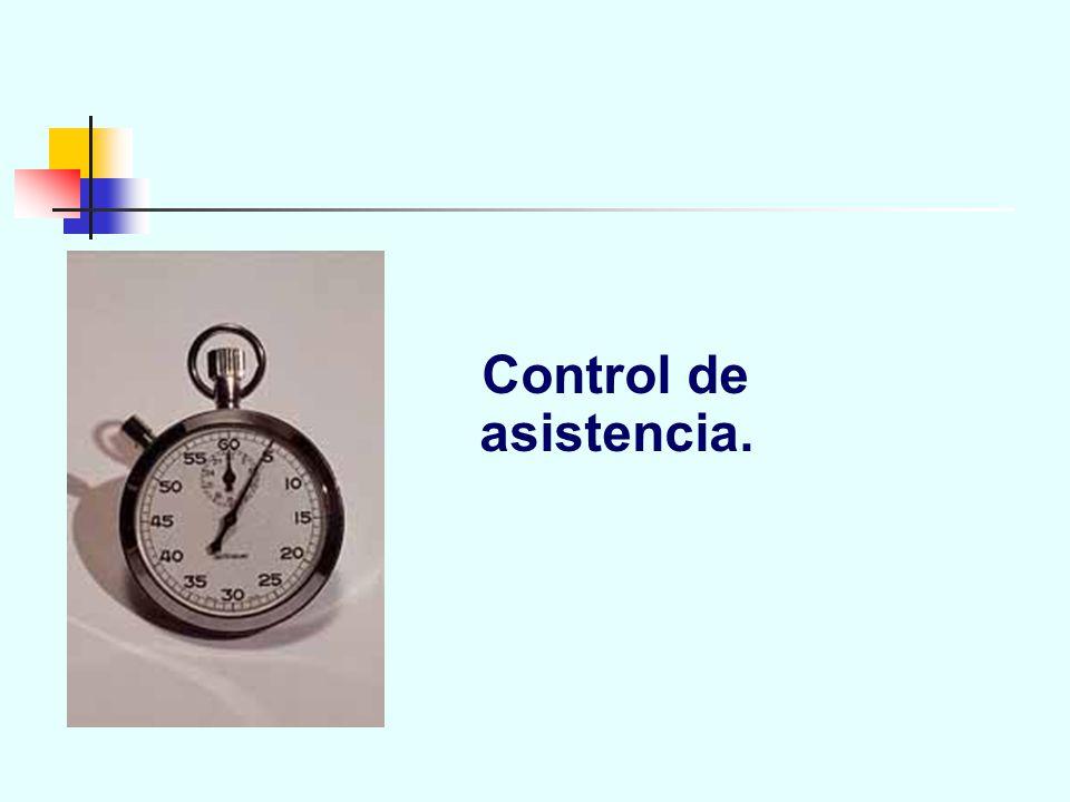 Control de asistencia.