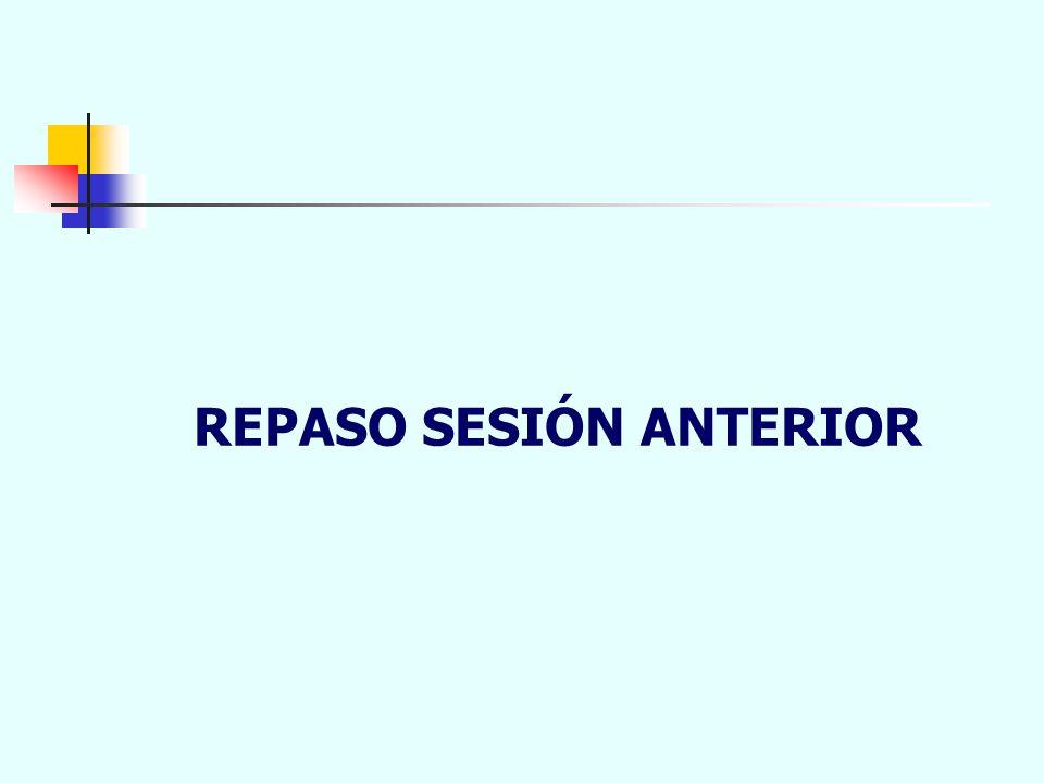 REPASO SESIÓN ANTERIOR