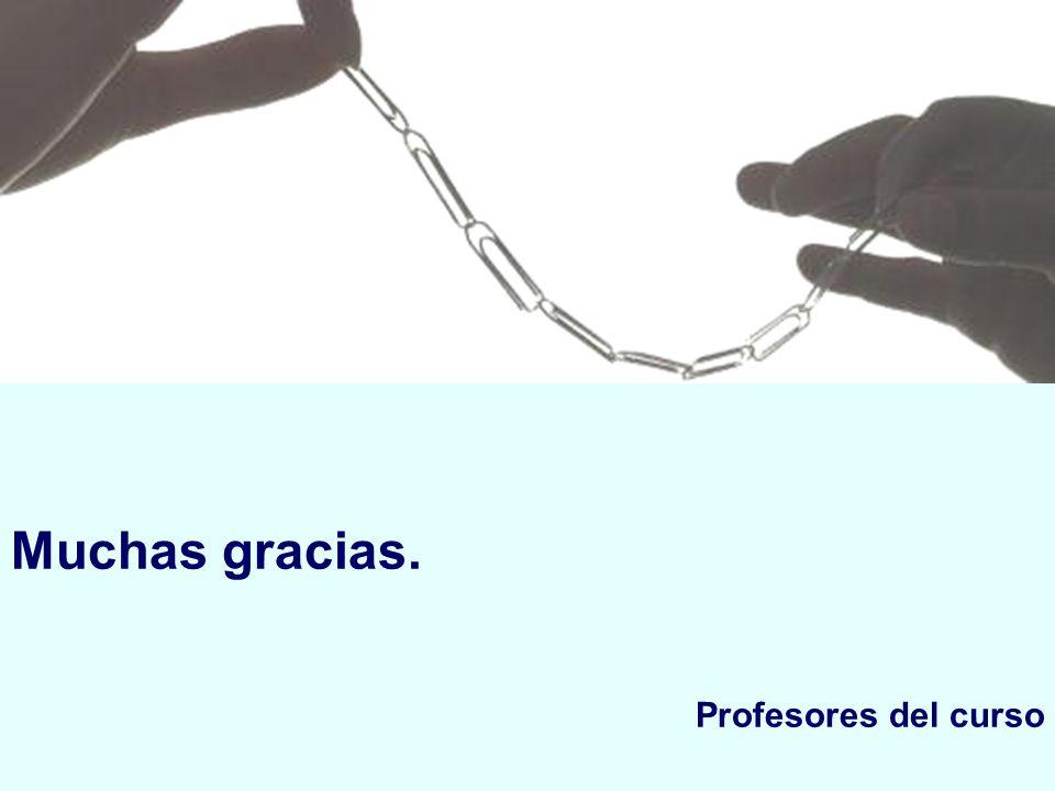 Muchas gracias. Profesores del curso