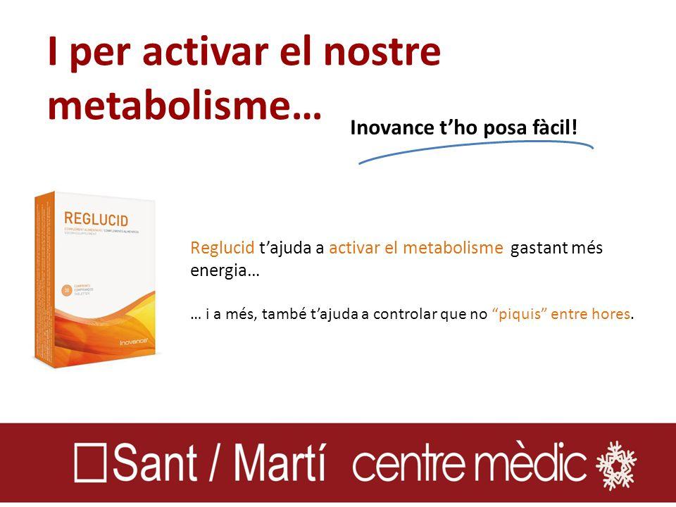 I per activar el nostre metabolisme… Inovance t'ho posa fàcil.