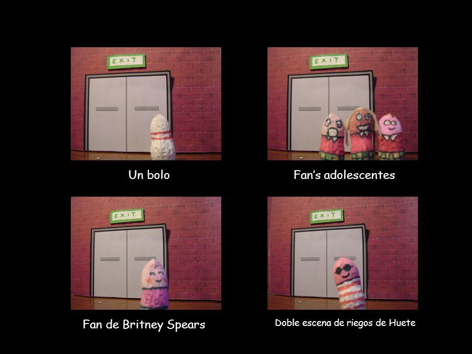 Fan's adolescentes Un bolo Fan de Britney Spears Doble escena de riegos de Huete