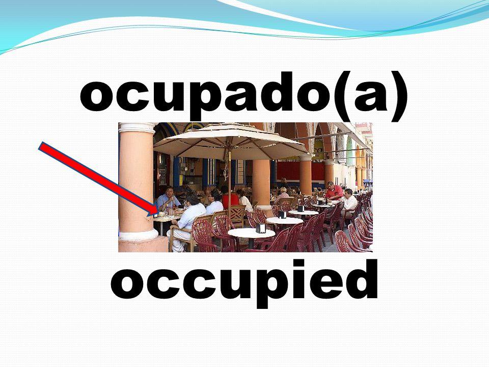 ocupado(a) occupied